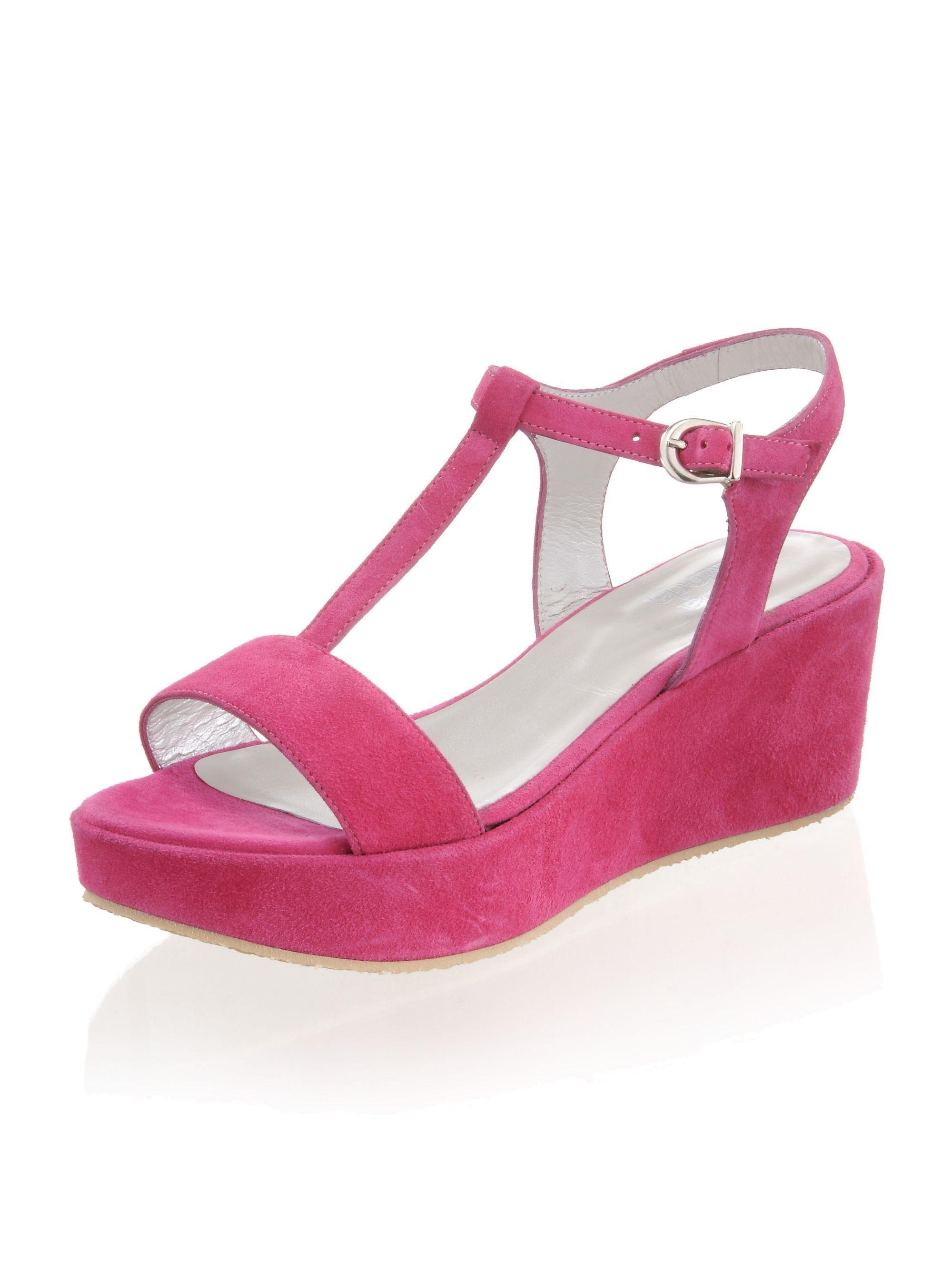 Alba Moda Sandalette mit Keilabsatz online kaufen  pink