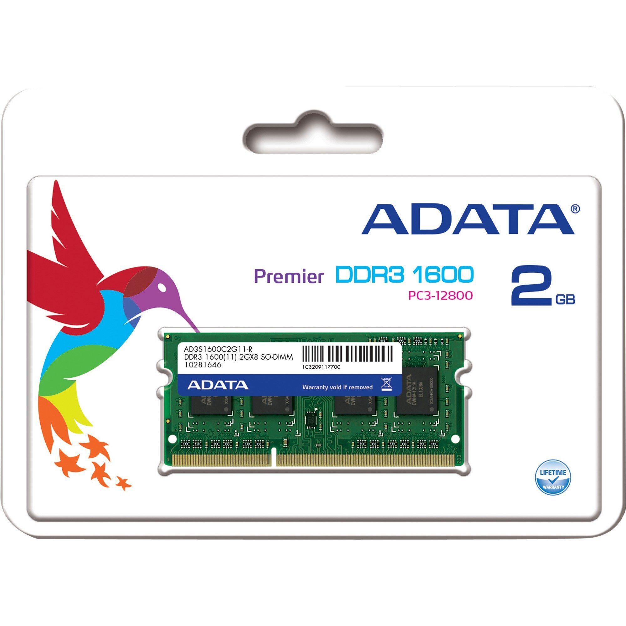 ADATA Arbeitsspeicher »SO-DIMM 2 GB DDR3-1600«