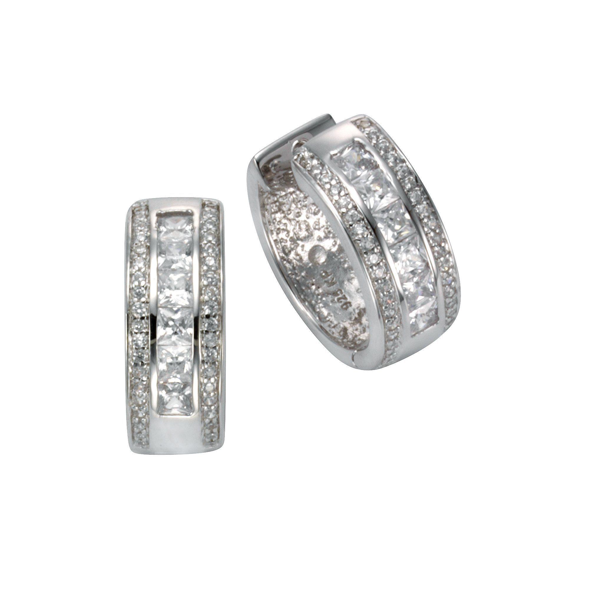 CELESTA Creolen »925/- Sterling Silber Zirkonia«