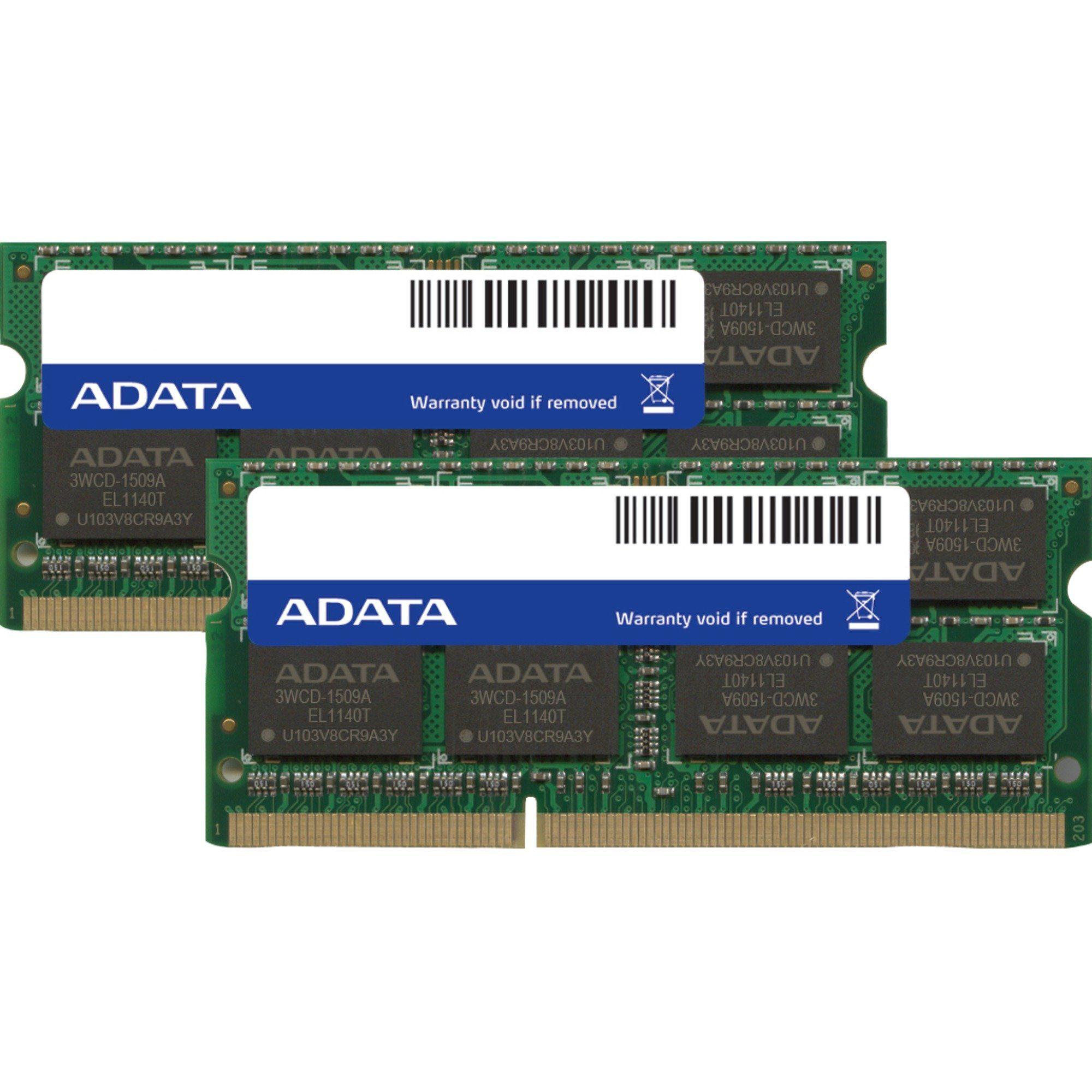 ADATA Arbeitsspeicher »SO-DIMM 8 GB DDR3-1600 Kit«