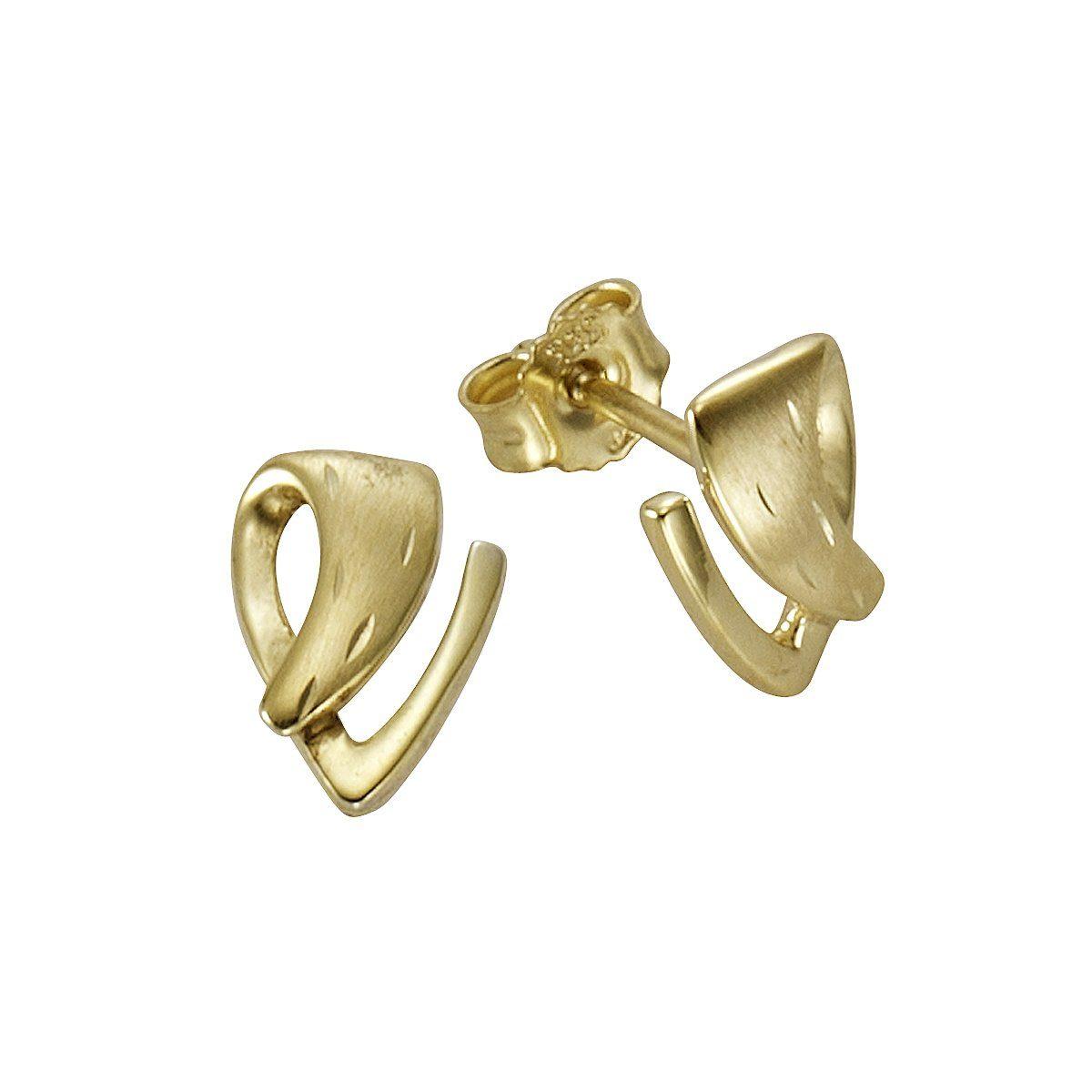 Firetti Ohrstecker »333/- Gelbgold diamantiert«