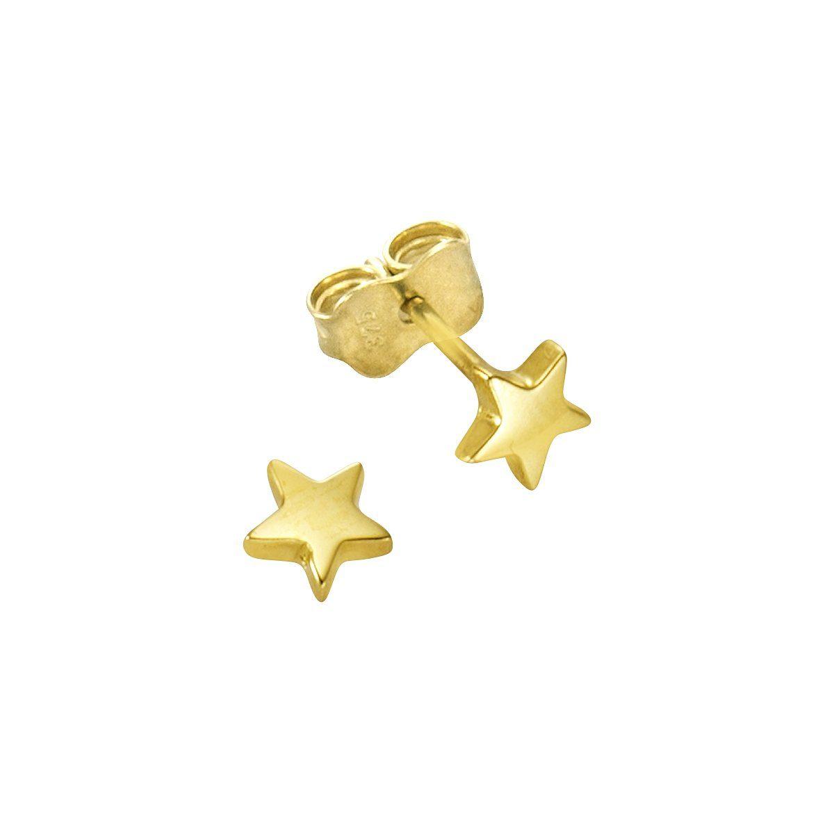Firetti Ohrstecker »375/-Gelbgold 5mm Sterne«