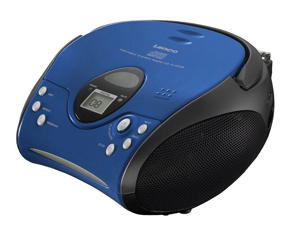 lenco tragbares stereo ukw radio mit cd player scd 24. Black Bedroom Furniture Sets. Home Design Ideas