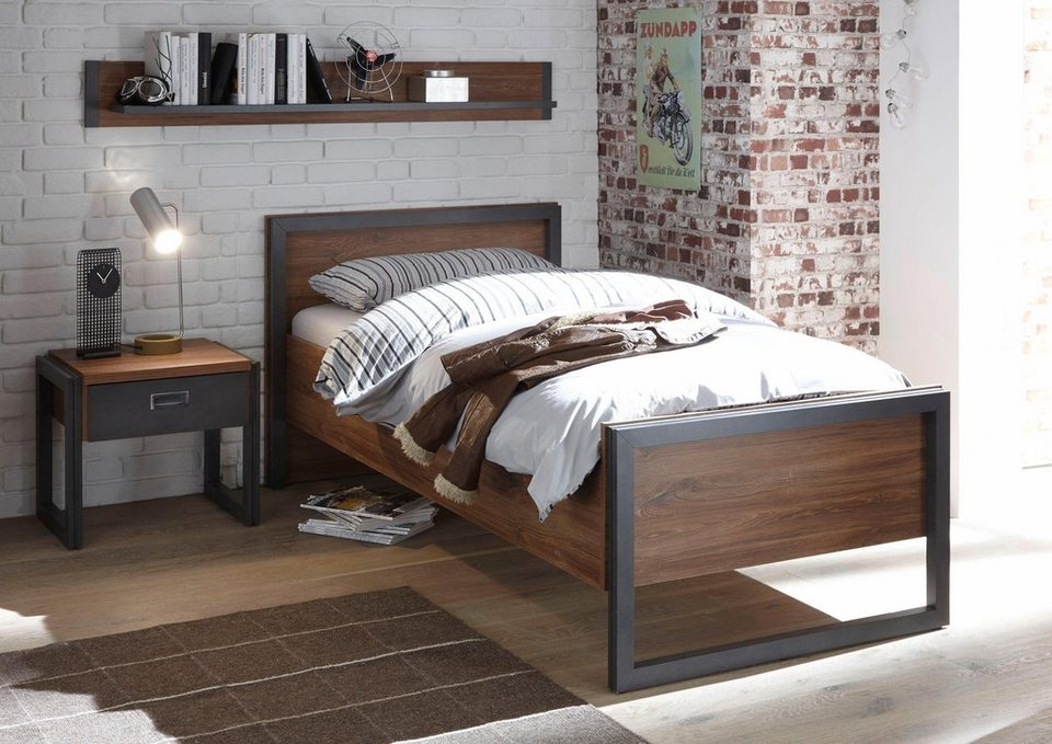 home affaire bett detroit in 3 breiten in angesagtem industrial look online kaufen otto. Black Bedroom Furniture Sets. Home Design Ideas