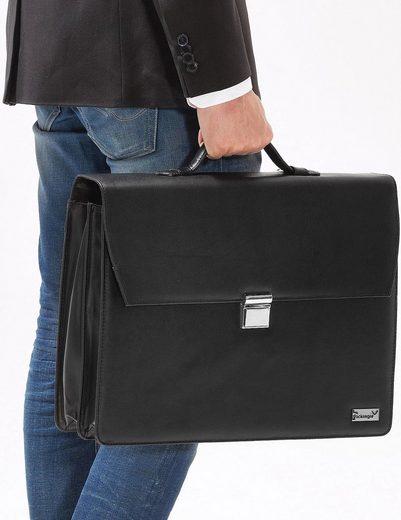 Packenger Aktentasche mit Laptopfach, Björn, schwarz