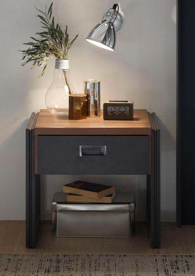 Home Affaire Nachttisch Detroit Breite 55 Cm In Angesagtem Industrial Look Online Kaufen Otto