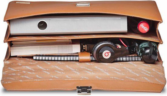 Packenger Aktentasche mit Laptopfach, Björn, cognac braun