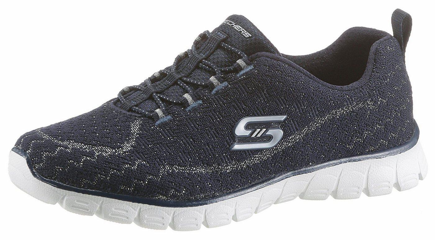 Damen Skechers EZ Flex 3.0 Estrella Sneaker in cooler Space-Optik blau | 00190211678171