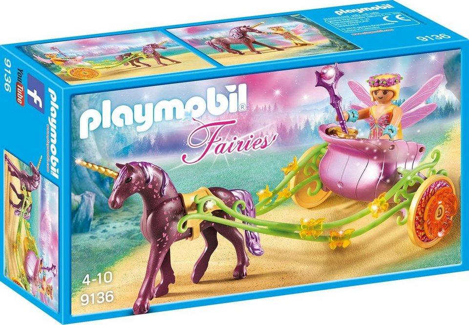 Playmobil blumenfee mit einhornkutsche 9136 fairies online kaufen otto - Playmobil kutsche ...