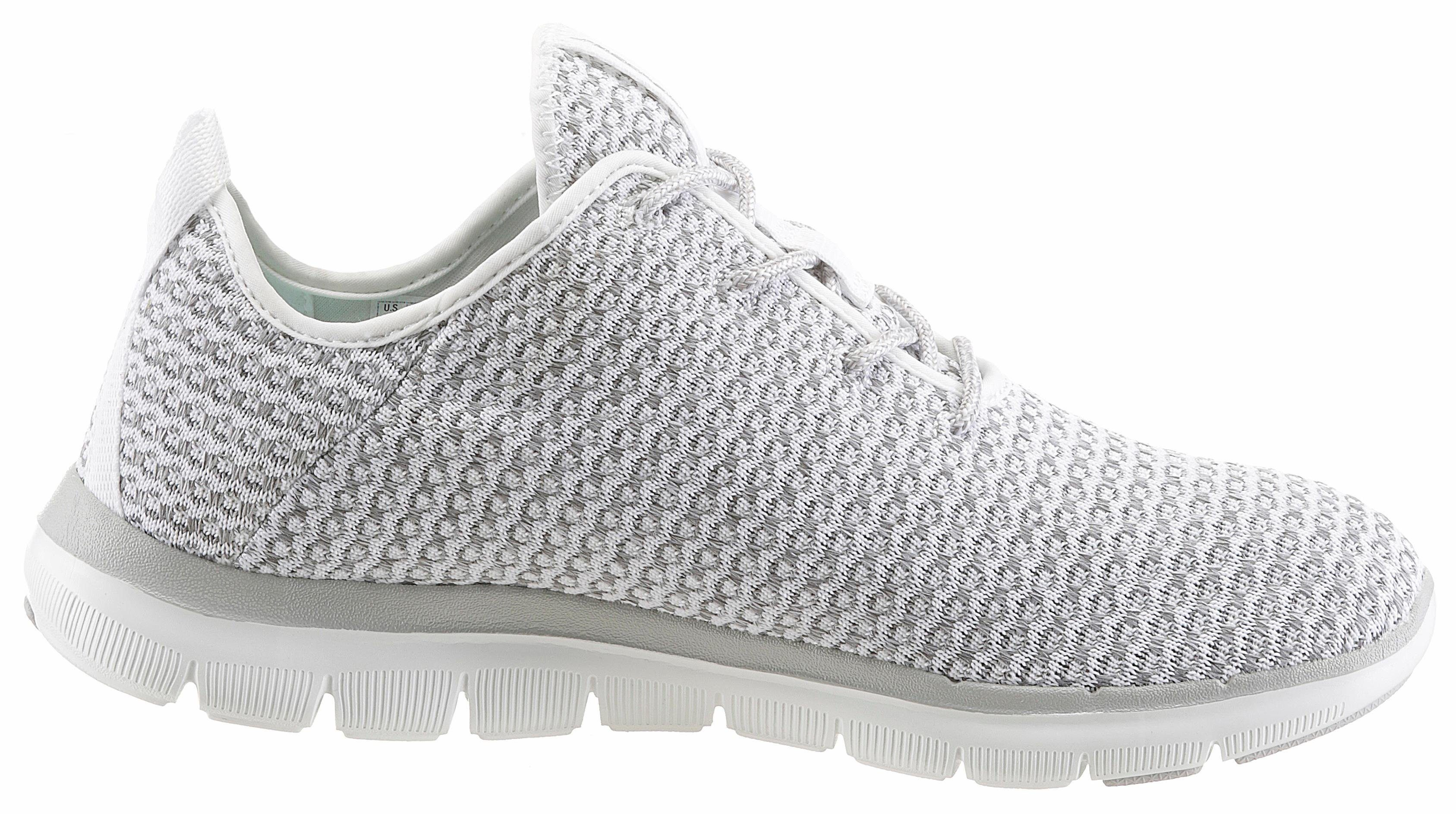 Skechers Flex Appeal 20 Bold Move Sneaker, mit Air Cooled-Memory Foam online kaufen  grau-weiß