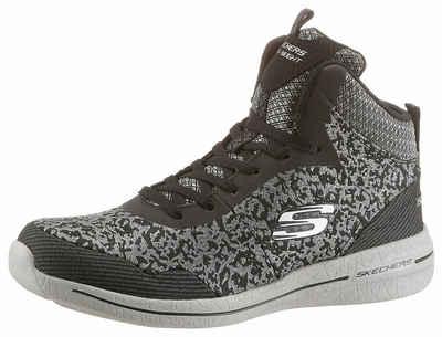 Skechers »Burst - Hit the Town« Sneaker, in trendiger Samt-Optik, braun, leo