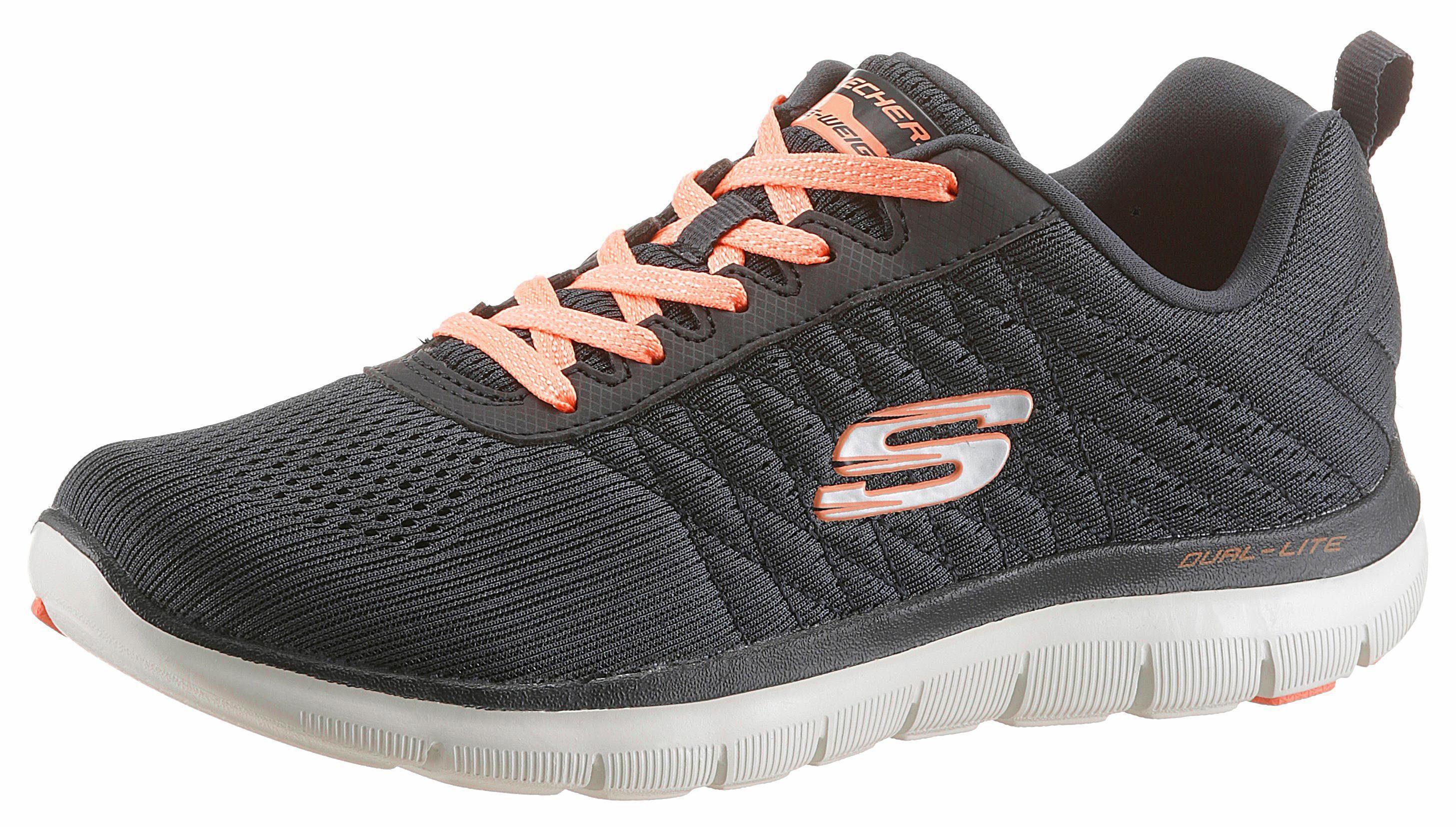 Skechers Flex Appeal 20 Break Free Sneaker, mit Dämpfung durch Air Cooled Memory Foam online kaufen  anthrazit