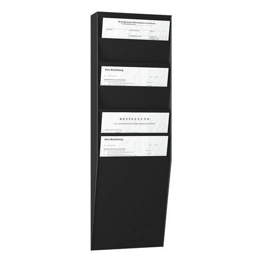 PAPERFLOW Wand–Prospekthalter 6 Fächer »A4 hoch«