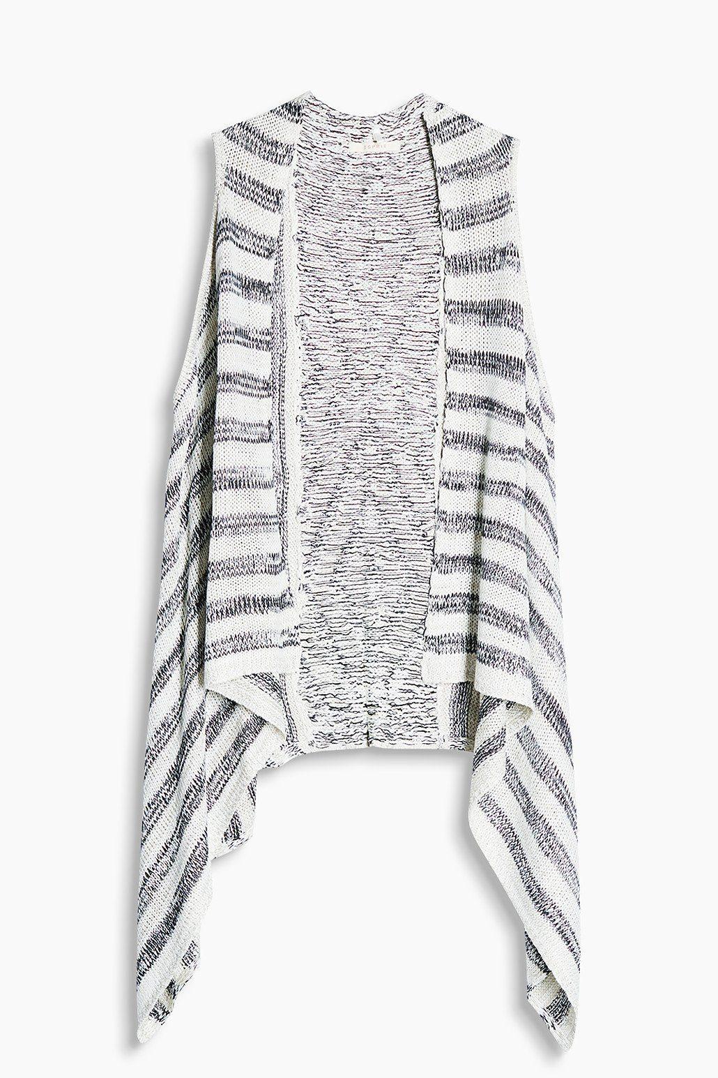 ESPRIT CASUAL Lässige Strickweste mit Ikat-Muster