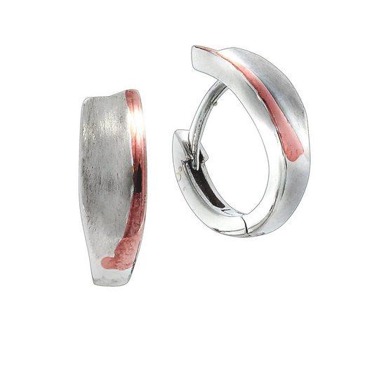 Vivance Klappcreolen »925/- Sterling Silber bicolor«