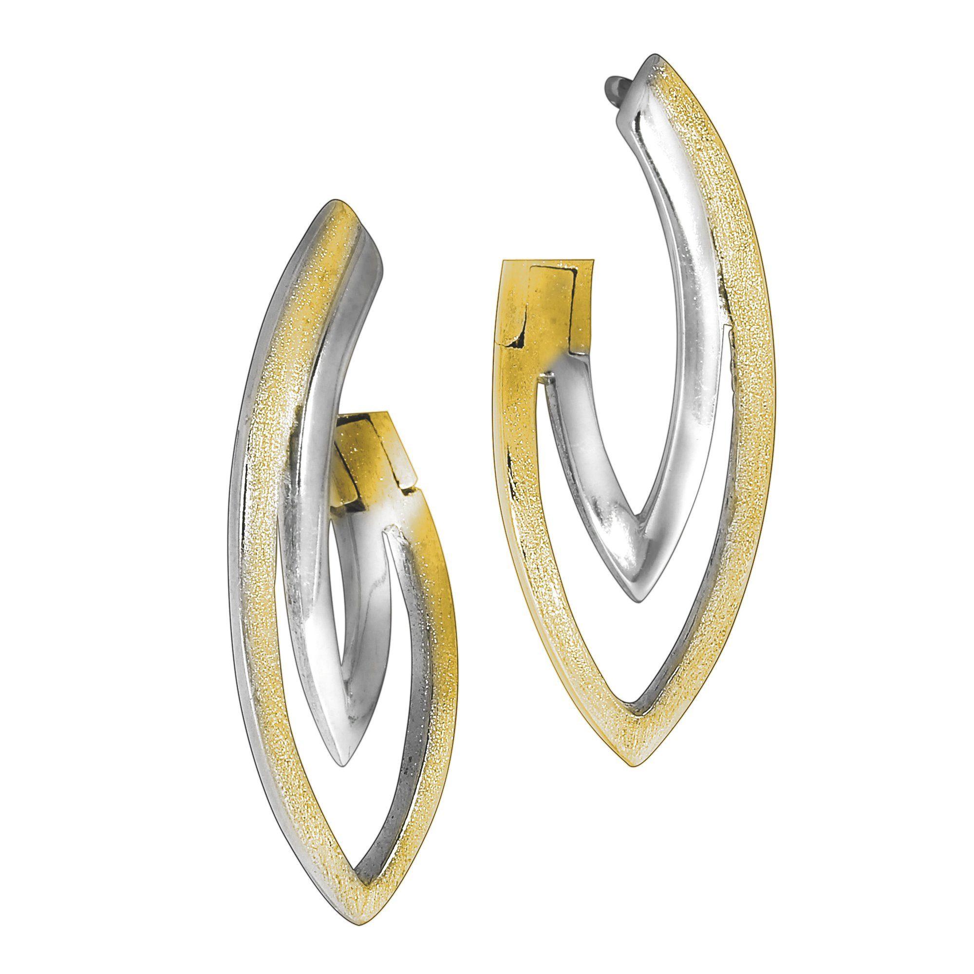 Online Kaufen Vivance Bicolor« Klappcreolen »925Sterling Silber hQxdBtsCor