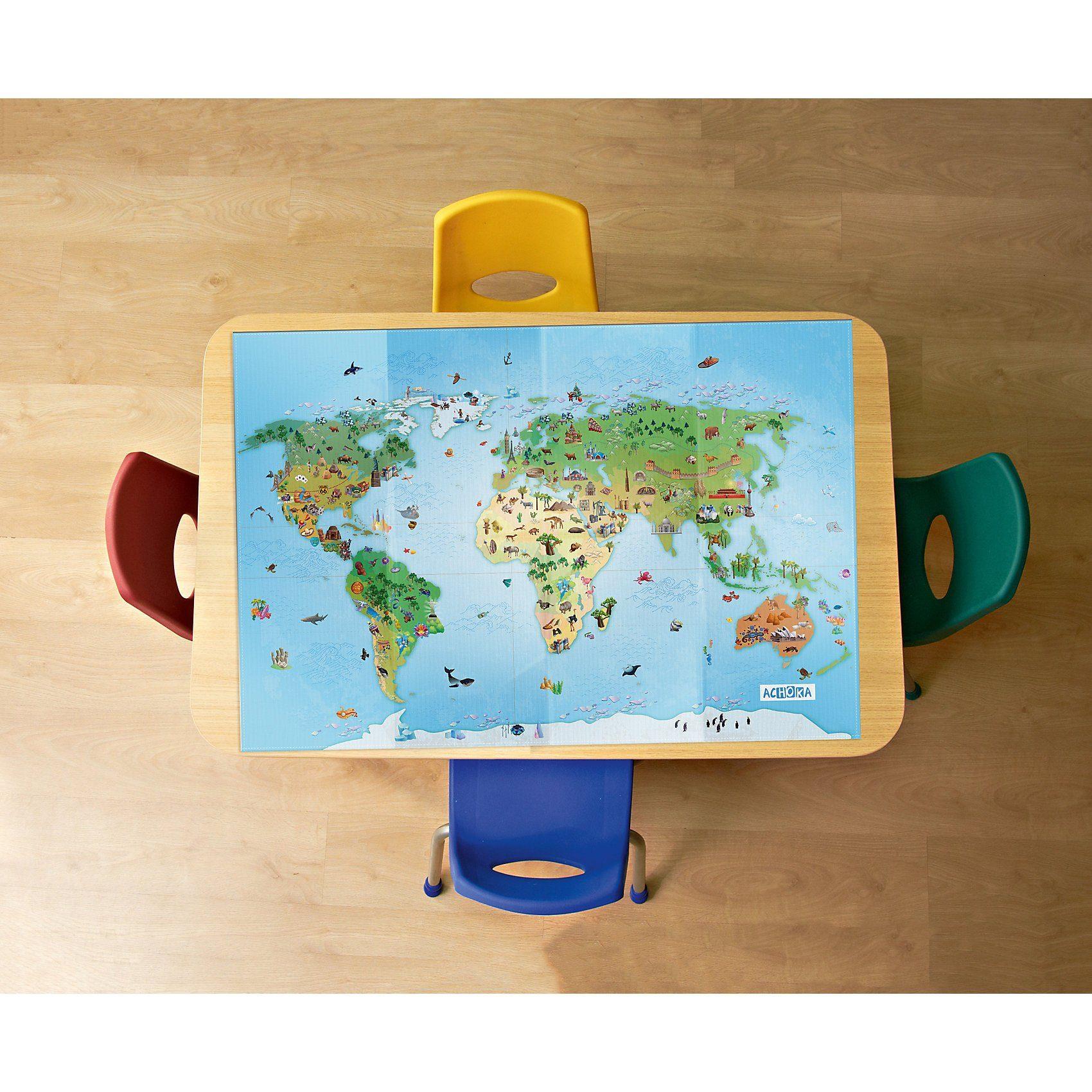 Spieltischtuch Um die Welt, 100x140cm