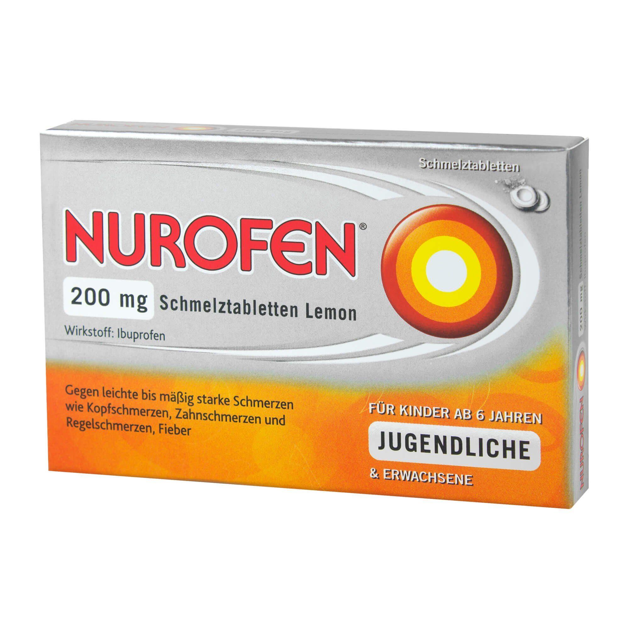Nurofen 200 mg Schmelztabletten Lemon , 12 St