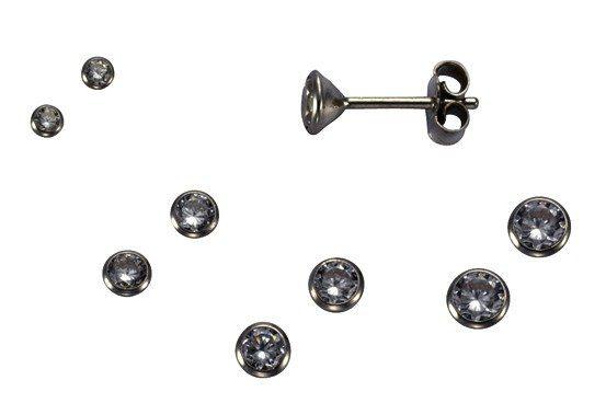Firetti Ohrstecker »935/- Sterling Silber rhod. 3 Paar 24mm«