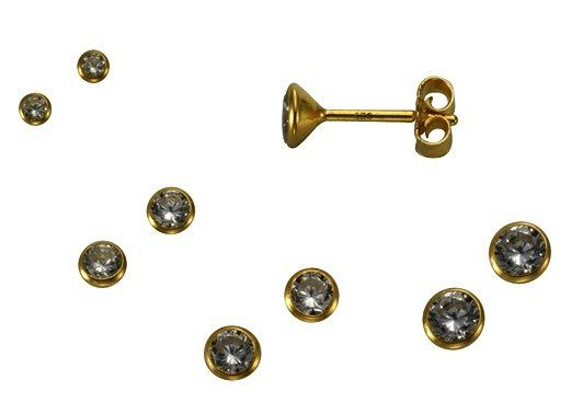 Firetti Ohrstecker »935/- Sterling Silber vergoldet Kelch«