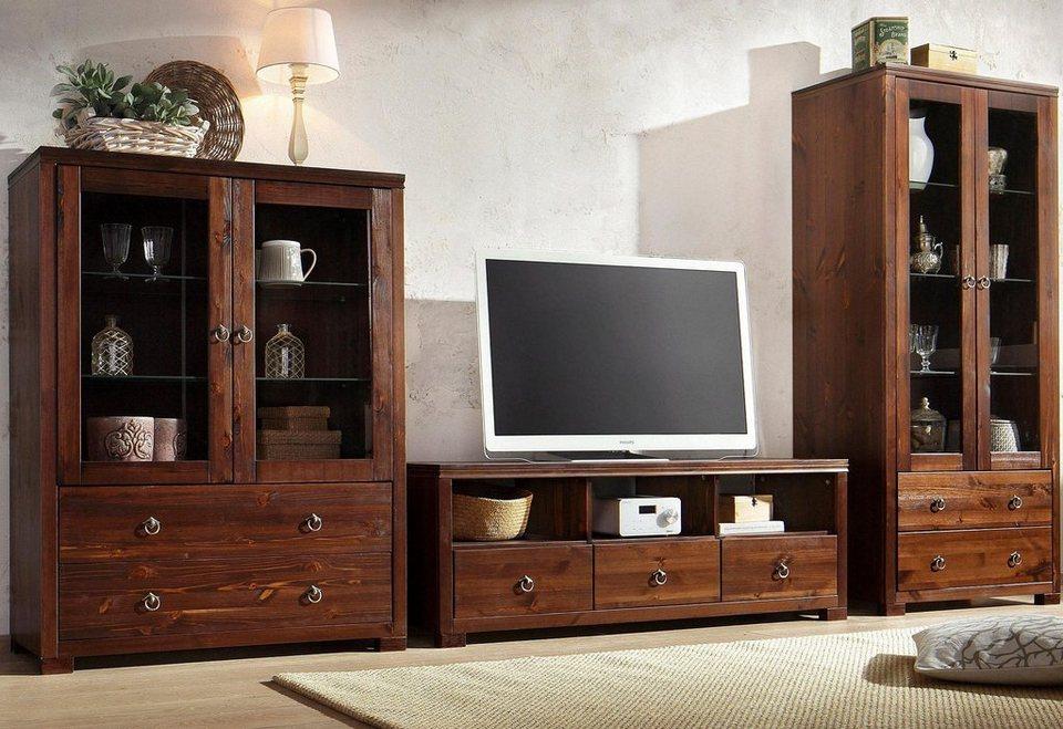Tv lowboard kolonial modernes tvlowboard emela cm - Wohnwand kolonial ...
