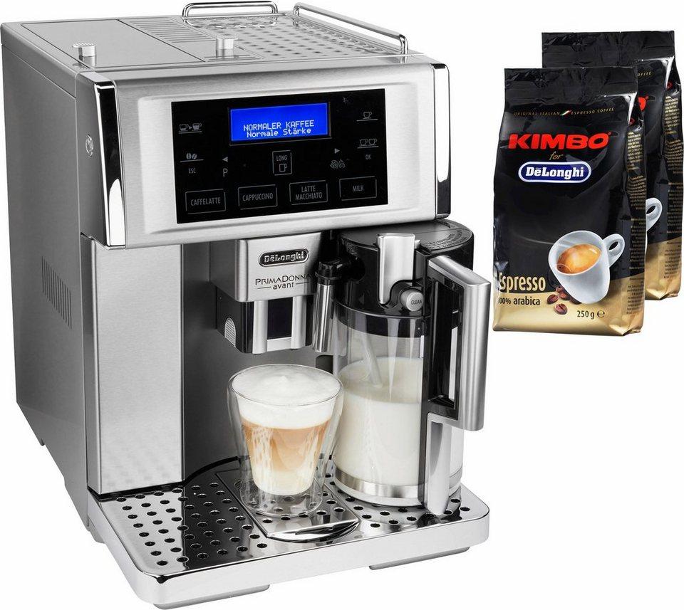 delonghi kaffeevollautomat primadonna avant esam 6708 1. Black Bedroom Furniture Sets. Home Design Ideas
