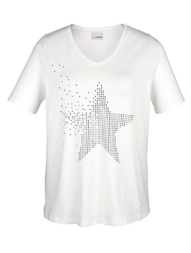 Miamoda Shirt Made With Star Motif Decorative Stones