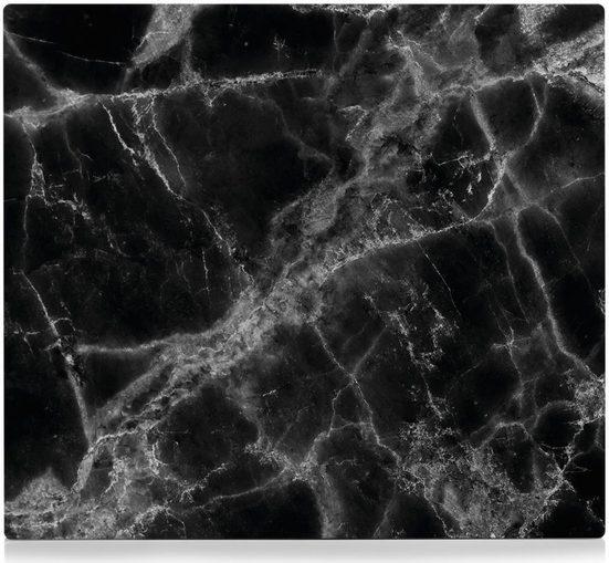 Zeller Present Herdblende-/Abdeckplatte »Marmor«, ESG-Glas, (1 tlg), Silikonfüßen