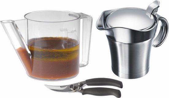 WESTMARK Küchenhelfer-Set »Fett-Trenn-Kanne, Geflügelschere, Thermo-Sauciere«, (Set, 3-tlg)