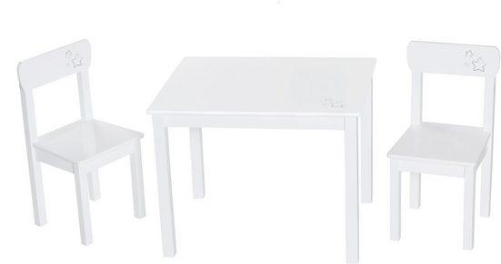 roba® Kindersitzgruppe »Weiß«, (3-tlg)
