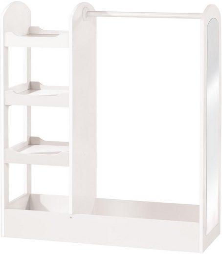 Roba® Garderobenständer »Kindergarderobe, weiß«, mit Spiegel und Ablagefächern