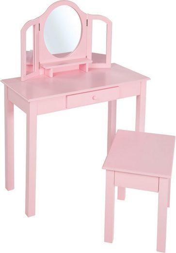 roba schminktisch schmink und frisiertisch mit hocker. Black Bedroom Furniture Sets. Home Design Ideas