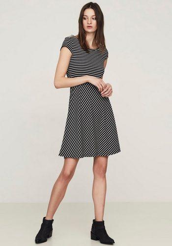 Damen Vero Moda Jerseykleid VIGGA FLAIR (Set, mit Gürtel in Lederoptik) schwarz | 05713443392469