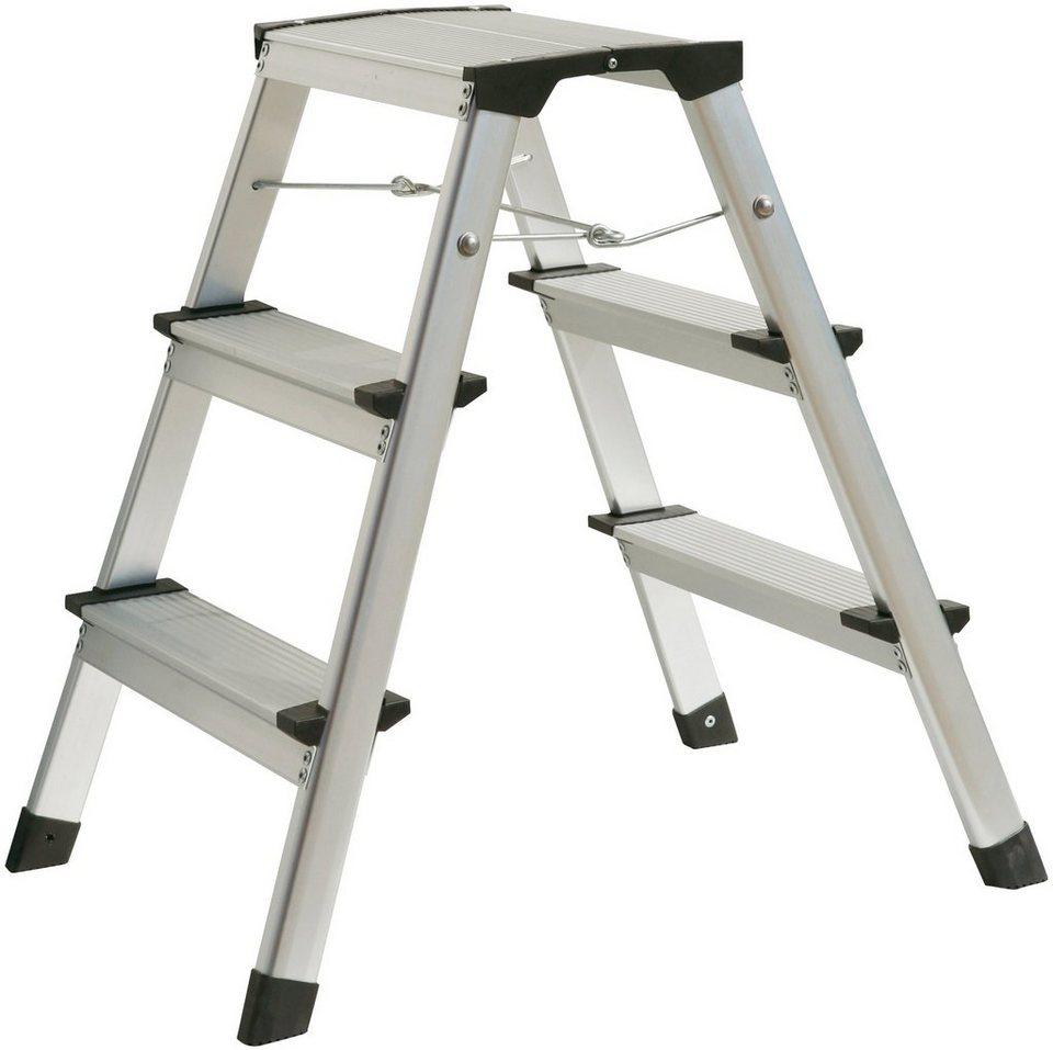 atrox trittleiter alu 2x3 stufen belastbar bis 150 kg online kaufen otto. Black Bedroom Furniture Sets. Home Design Ideas