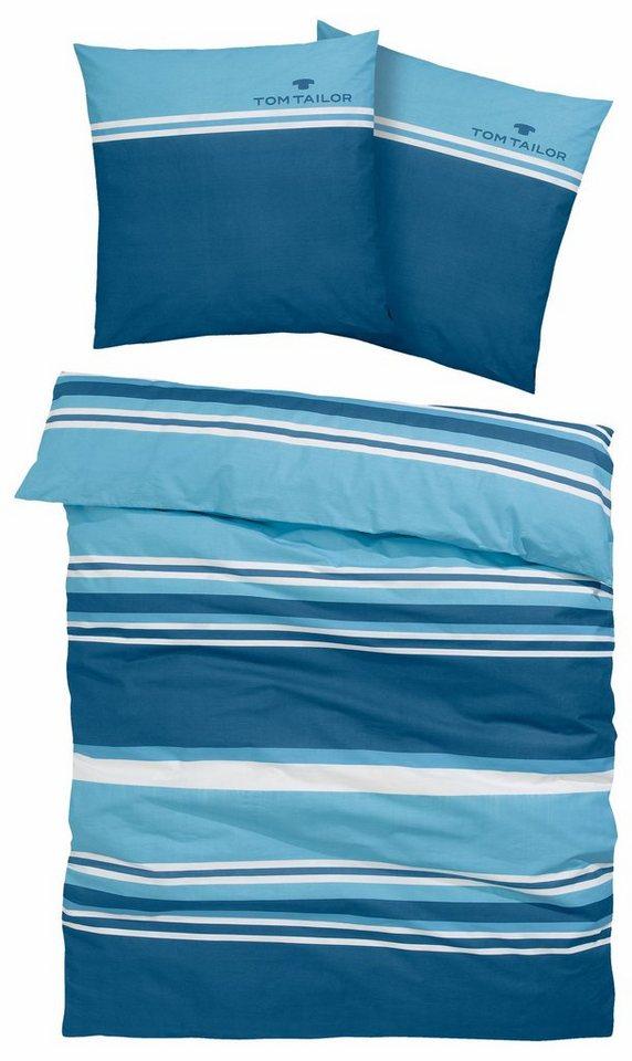 Bettwasche Jun Tom Tailor Mit Sportiven Streifen