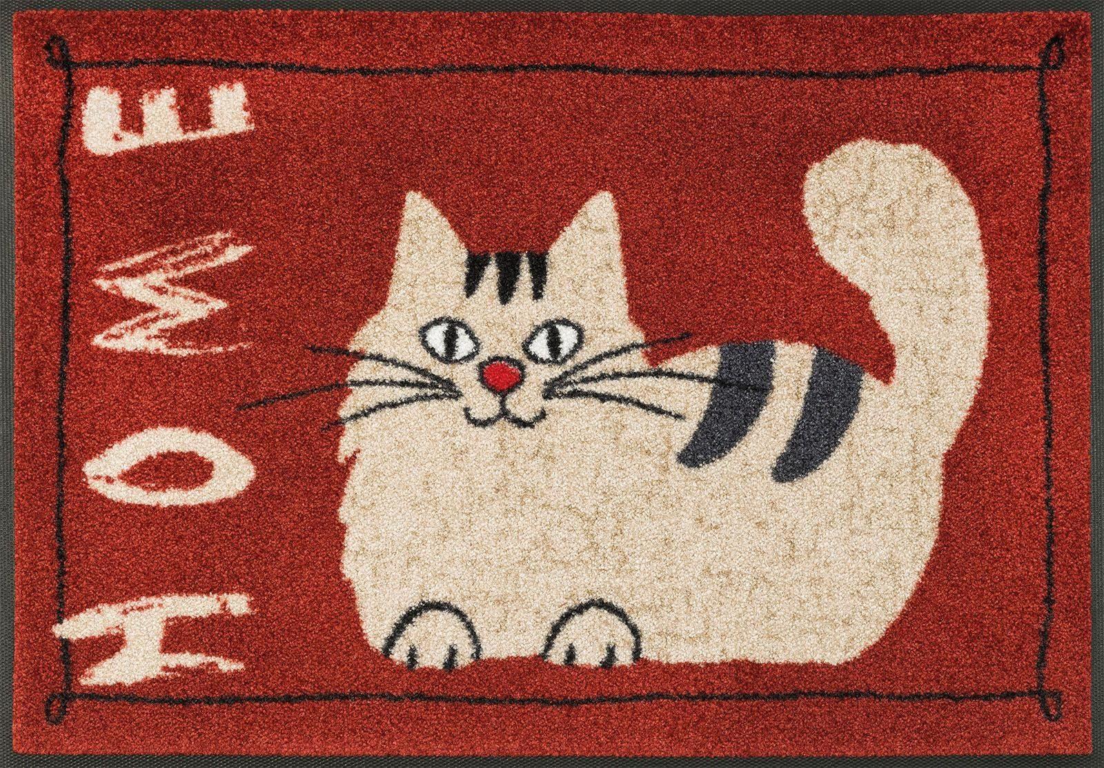 Fußmatte »Catty Home«, wash+dry by Kleen-Tex, rechteckig, Höhe 7 mm