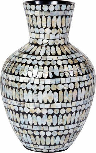 home affaire deko vase aus bambus mit perlmutt belegt online kaufen otto. Black Bedroom Furniture Sets. Home Design Ideas