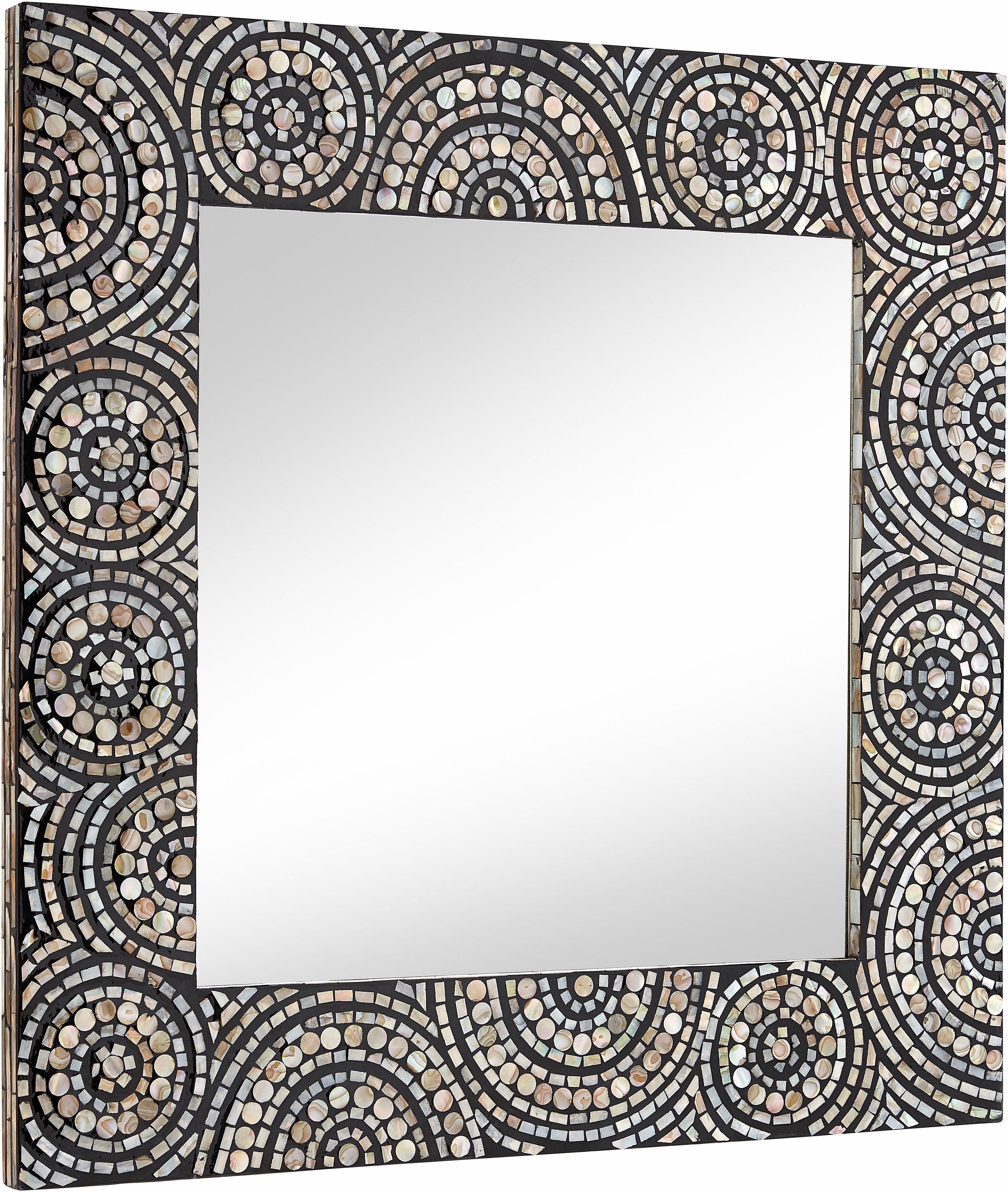 Spiegel, mit Perlmutt belegt