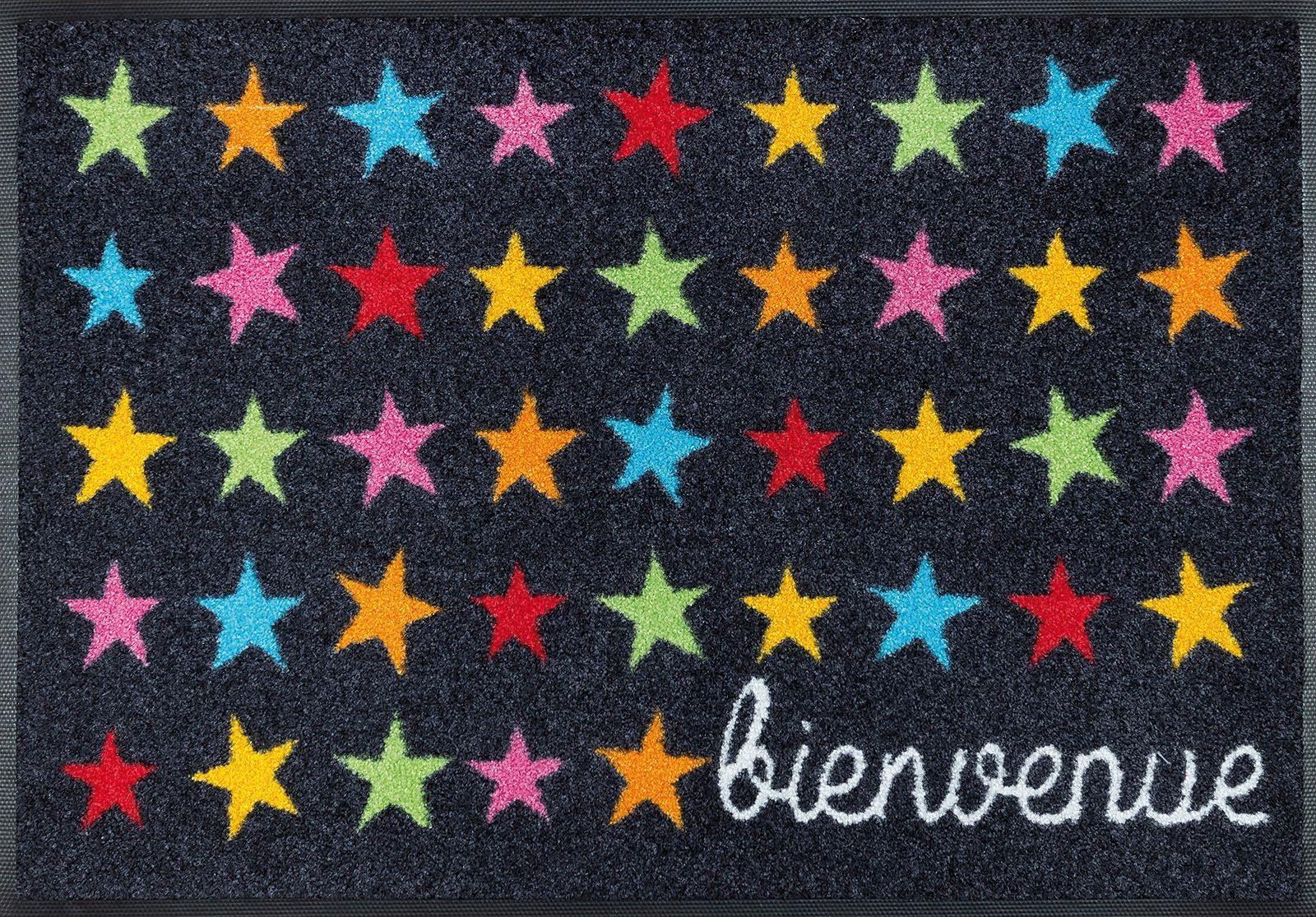 Fußmatte »Bienvenue Etoile«, wash+dry by Kleen-Tex, rechteckig, Höhe 7 mm