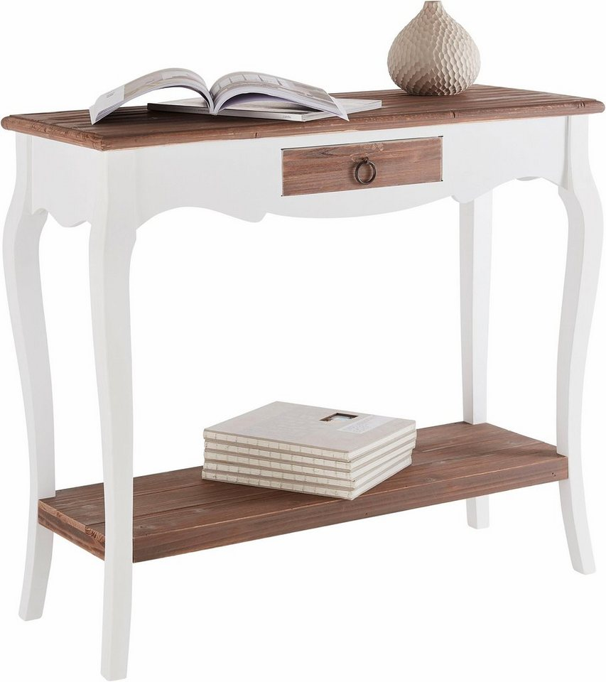 home affaire konsole paris mit schublade breite 91 cm. Black Bedroom Furniture Sets. Home Design Ideas