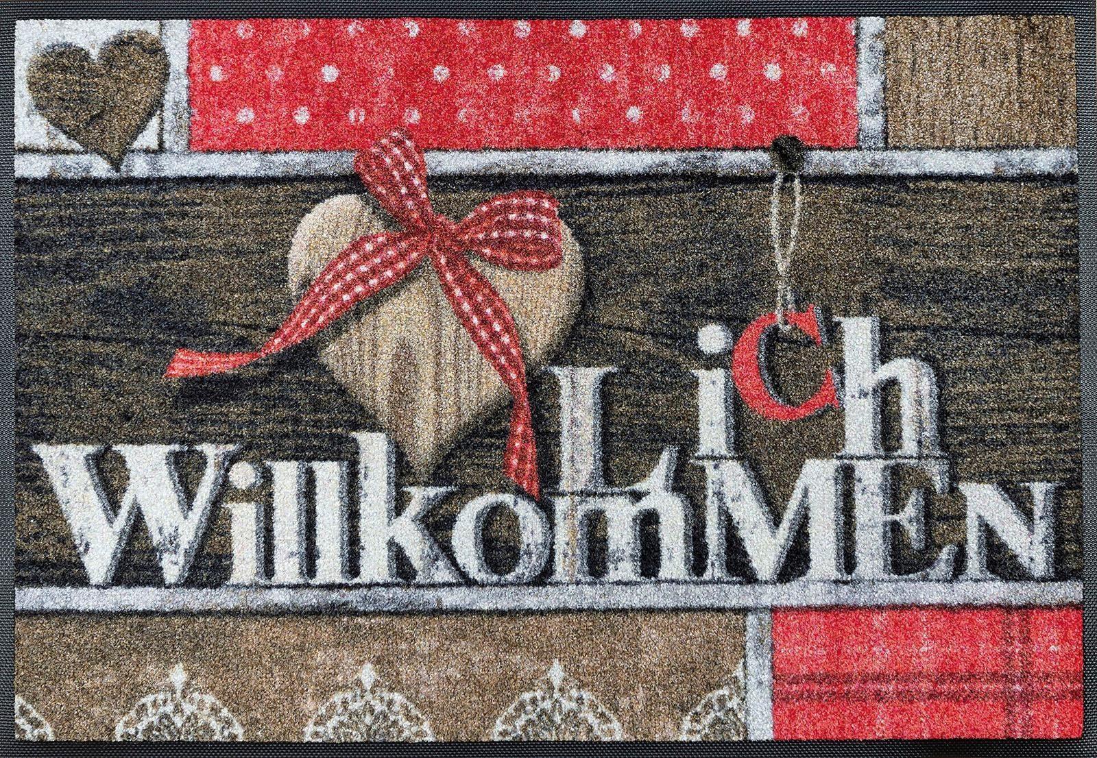 Fußmatte »Cottage Chic«, wash+dry by Kleen-Tex, rechteckig, Höhe 7 mm