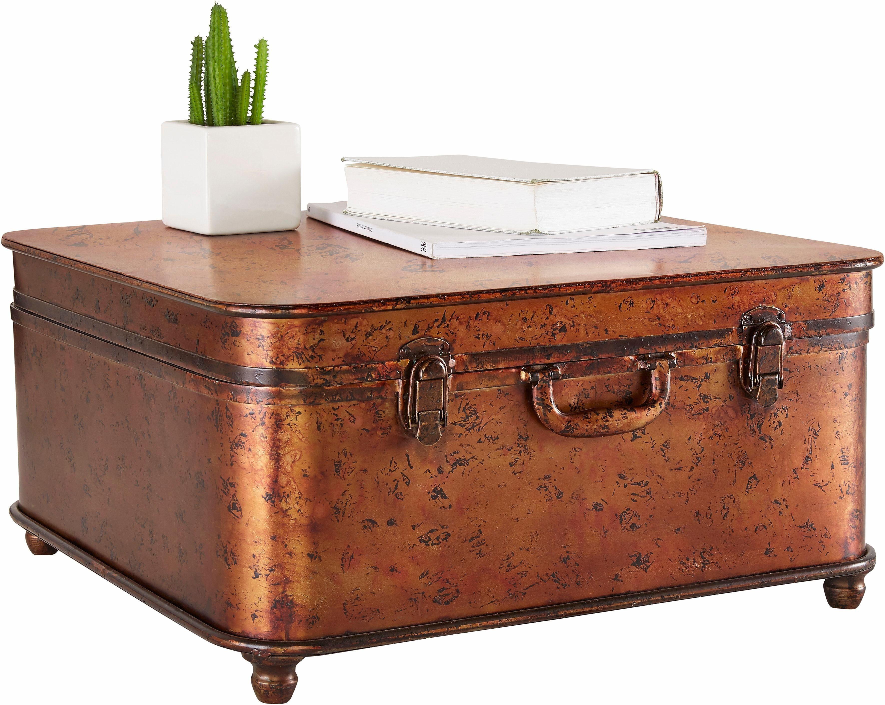Home affaire Couchtisch »Koffer«, aus Metall