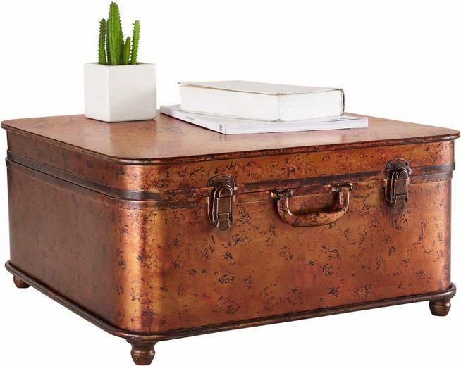 home affaire couchtisch koffer aus metall otto. Black Bedroom Furniture Sets. Home Design Ideas