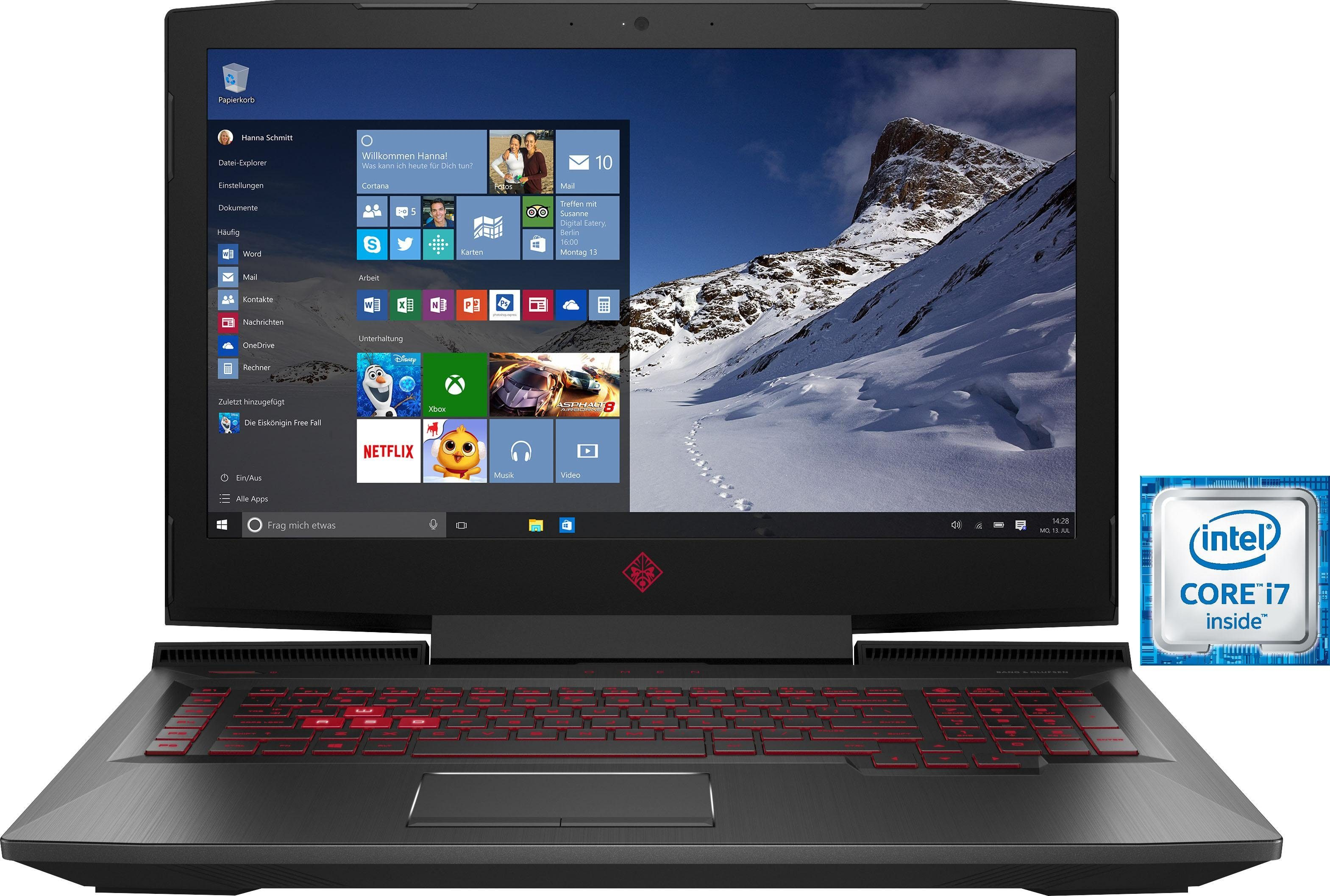 OMEN by HP 17-an013ng Gaming Notebook (43,9 cm/17,3 Zoll, 120 Hz, Intel Core i7, GTX 1060, 1000 GB HDD, 256 GB SSD)