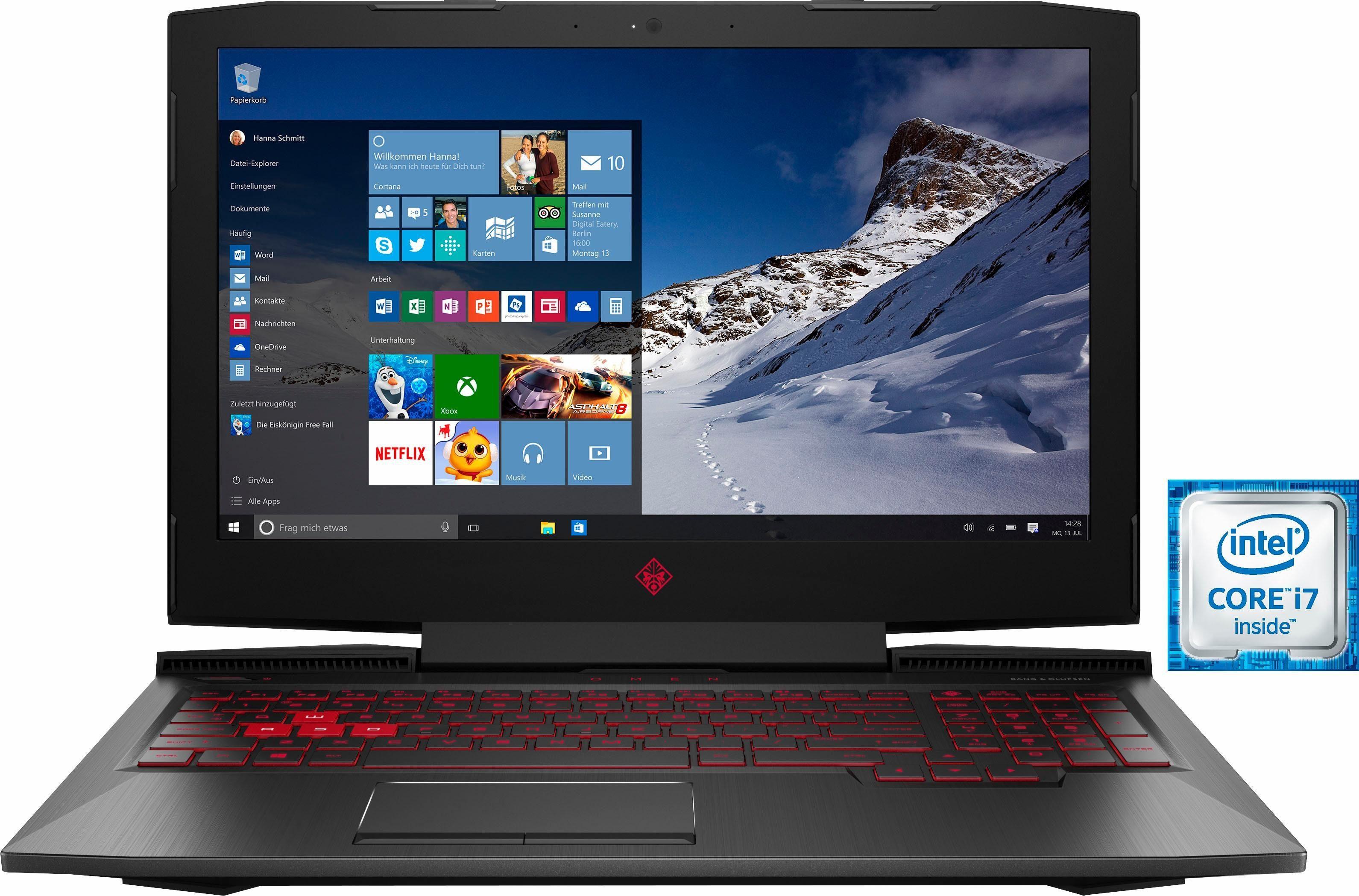 OMEN by HP 15-ce002ng Gaming Notebook (39,6 cm/15,6 Zoll, 120 Hz, Intel Core i7, GTX 1060, 1000 GB HDD, 256 GB SSD)