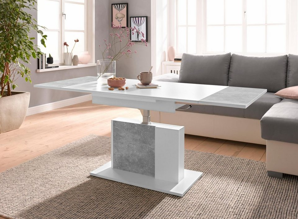 raum id couchtisch h henverstellbar und ausziehbar online. Black Bedroom Furniture Sets. Home Design Ideas