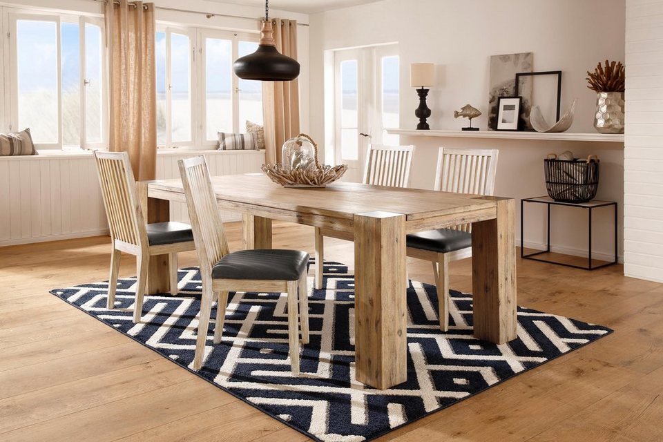 home affaire stuhl malle im 2er set aus massivem akazienholz online kaufen otto. Black Bedroom Furniture Sets. Home Design Ideas