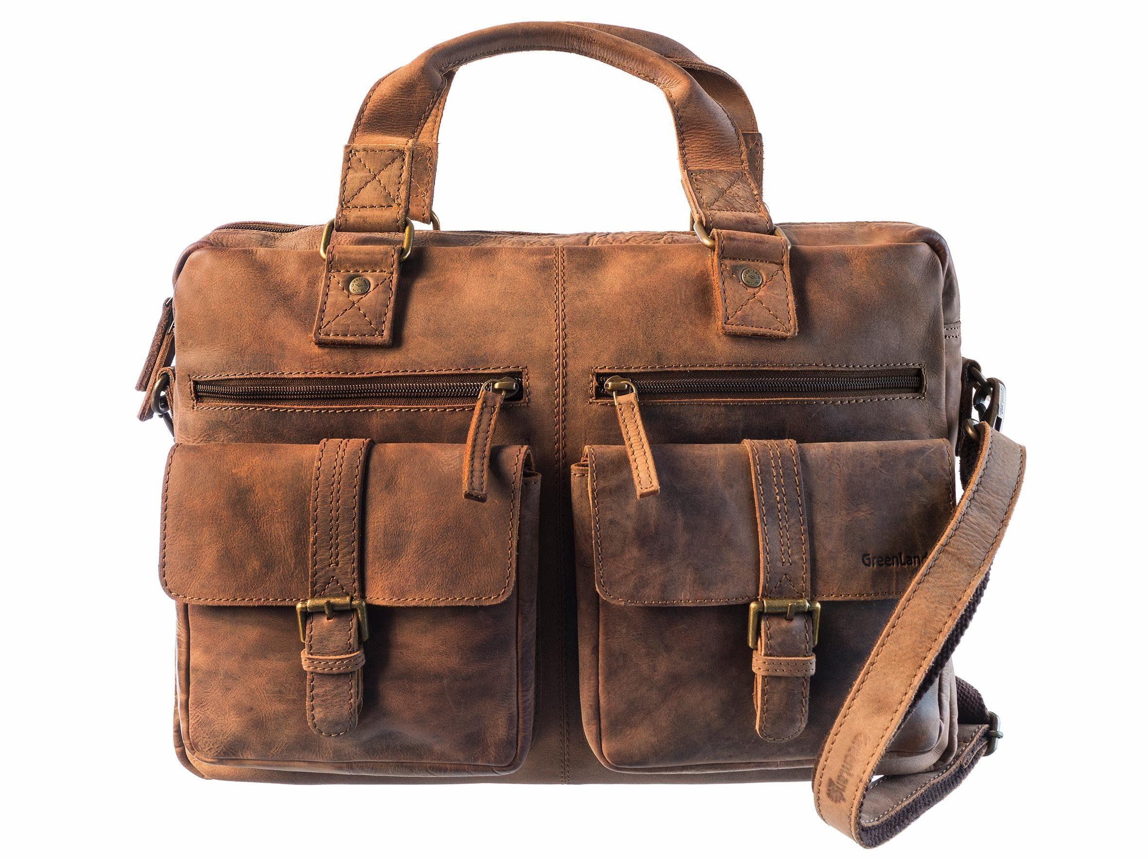 GreenLand Nature Messenger Bag »MONTENEGRO«, aus hochwertigem Rindsleder