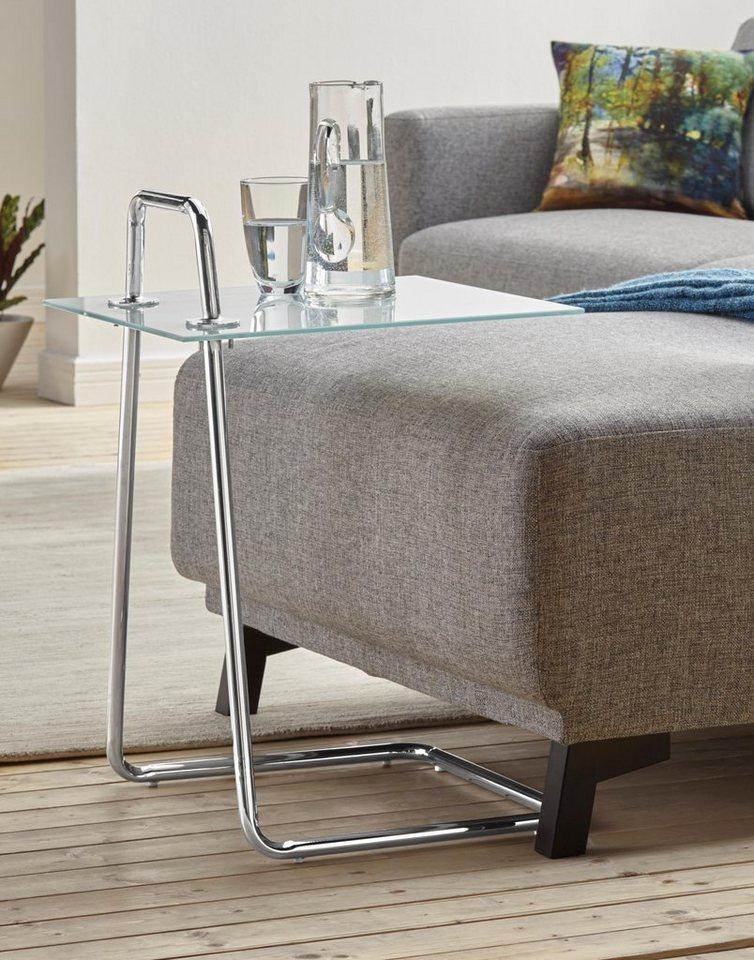 beistelltisch mit glasablage online kaufen otto. Black Bedroom Furniture Sets. Home Design Ideas