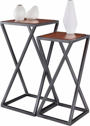 Home affaire Beistelltisch (Set, 2 St), mit einem Metallgestell